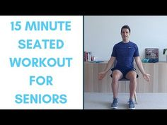 Completely Seated Workout For Seniors- 15 Minutes Senior Fitness, Fitness Tips, Health Fitness, Posture Stretches, Morning Stretches, Weight Bearing Exercises, Chair Exercises, Health Programs, Bone Health
