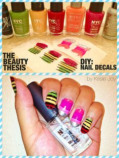 Nail art addicts, this one's for you! Your very own DIY nail decals!