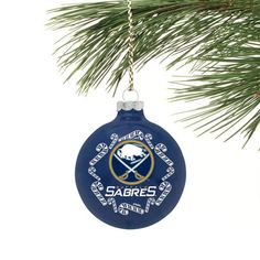Buffalo Sabres Candy Cane Traditional Ornament - Royal Blue - $4.99