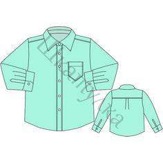 Выкройка детской рубашки, р-р 98