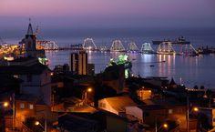 Vista da zona portuária de Valparaíso, Chile