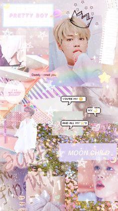 Rainbow Wallpaper, Pink Wallpaper, Aesthetic Pastel Wallpaper, Aesthetic Wallpapers, Bts Jimin, Collage, Jimin Wallpaper, Bts Aesthetic Pictures, Bts Backgrounds