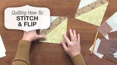 Learn the handy stitch and flip quilting technique in this how-to video http://www.nationalquilterscircle.com/video/stitch-and-flip-tutorial/?utm_source=pinterest&utm_medium=organic&utm_campaign=A219 #LetsQuilt