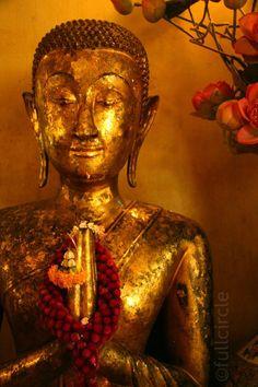 Golden #Buddha framed print 11x14 matted #photo, $78.00
