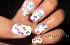 Colorful Music Notes  #nail #nails #nailart