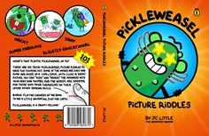 """Book cover design for """"PickleWeasel Picture Riddles"""". #kidsbooks"""