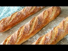 ФРАНЦУЗСКИЙ БАГЕТ | очень вкусный домашний хлеб | простой рецепт теста | выпечка French Baguette - YouTube How To Make Bread, Food To Make, French Baguette, Cooking Time, Hot Dog Buns, Bread Recipes, Bakery, Easy Meals, Food And Drink