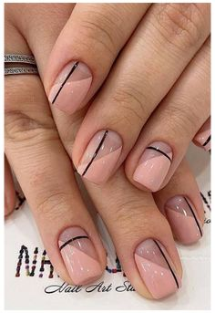 Natural Nail Designs, French Nail Designs, Short Nail Designs, Nail Art Designs, Nails Design, Nail Designs Spring, Nail Design For Short Nails, Elegant Nail Designs, Acrylic Nail Designs