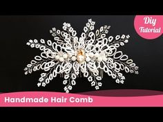 Bridal Beaded Hair Comb for Wedding. Handmade Hair Accessories for Beginners. Today you will learn how to make bridal beaded hair comb for wedding. For this tutorial you will need: beads, seed beads, crystals, wire and comb base. This handmade hair Natural Hair Accessories, Handmade Hair Accessories, Wedding Hair Accessories, Headpiece Wedding, Hair Wedding, Hair Beads, I Love Jewelry, Beading Tutorials, Beaded Flowers