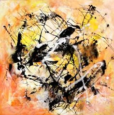 "www.artnrshinga.com 40""x40"" Orange Twist £895 by Paresh Nrshinga; Painting, ""ABSTRACT/ Orange twist"" #art"