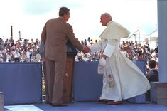 Ronald_Reagan and Pope John Paul II  - 1987 ,   back when the church was honored versus attacked