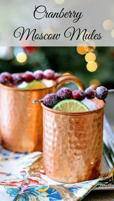 The Cranberry Moscow Mules are a festive treat!
