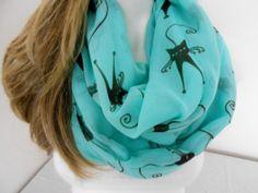 Cats shawl, Turquoise cats shawl, Women's accessories, Cat patterned scarf, Women's fashion, Aqua blue cotton shawl, Wrap cats