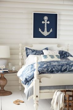 1045 best Beach Bedroom Ideas images on Pinterest | Anchor, Anchors ...