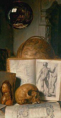 Simon Luttichuijs -Vanitas Still-Life with a Skull 1635-40