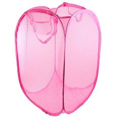 Shop for Unique Bargains Home Foldable Pink Meshy Design Clothes Storage Laundry Basket Hamper. Get free delivery On EVERYTHING* Overstock - Your Online Housewares Store! Tote Storage, Laundry Storage, Laundry Hamper, Storage Baskets, Storage Organization, Folding Laundry Basket, Disney Bedrooms, Clothing Storage, Arts And Crafts Supplies