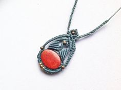Free shipping bohemian cozy macrame necklace by zenbohodesign