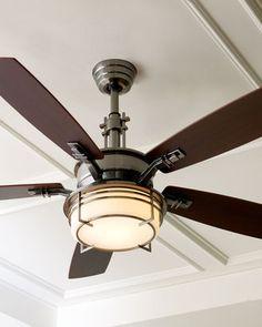 Modern Pewter Ceiling Fan