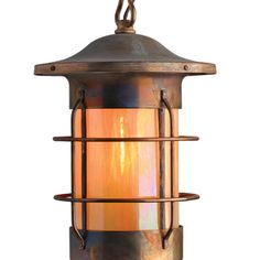 "America's Finest Lighting Company Balboa 1 Light Outdoor Hanging Lantern Shade Finish: Gold Iridescent, Finish: New Verde, Size: 16"" H x 10.5"" W x ..."