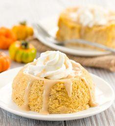 Keto Microwave Pumpkin Cheesecake - Kirbie's Cravings Double Chocolate Cheesecake, Low Carb Pumpkin Cheesecake, Cake Mug, Fall Desserts, Keto Desserts, Keto Recipes, Healthier Desserts, Diabetic Recipes, Dessert Recipes