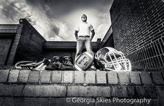 Kyle Davis / Towns County High School / Class of 2015 / Football helmet & football /  Wrestling shoes & headgear / senior / Photo by Tava @ Georgia Skies Photography / Hiawassee, Ga.