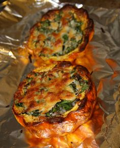 Beef and Spinach Stuffed Carnival Squash (would not use premade ...