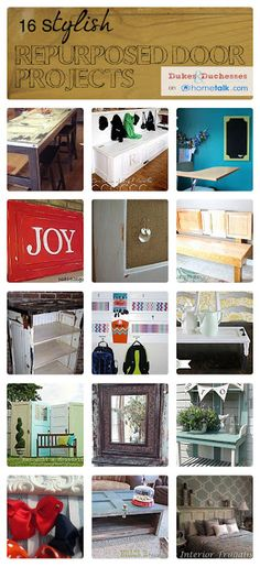 16 Stylish {Repurposed Door} Projects   curated by 'Dukes and Duchesses' blog!