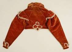 Regency Silk Spencer Jacket. Back View. Circa 1819-1822.
