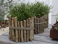 25 Cheap And Easy DIY Home And Garden Projects Using Sticks And Twigs – MyKingLi… – front yard fence ideas Diy Garden Projects, Garden Crafts, Garden Art, Home And Garden, Twig Crafts, Stick Crafts, Deco Nature, House Plants Decor, Rustic Gardens
