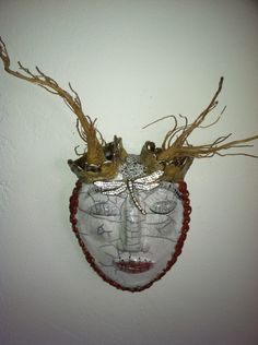 Last of the Forest Mask Series (for now). This one has golden roots.