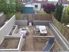 Lounge-tuin in aanbouw, gemaakt door: www.allroundklusbistervelts.nl