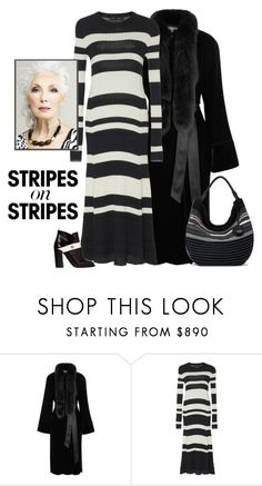 """""""Striped Knit Maxi Dress"""" by patricia-dimmick ❤ liked on Polyvore featuring Elizabeth and James, Proenza Schouler, The Sak, stripesonstripes and PatternChallenge"""