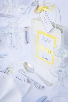 Yellow Weddings, Receptions, Place Cards, Place Card Holders, Wedding Ceremony, Party, Wedding Reception