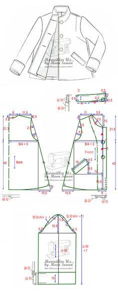 Jaqueta, padrões instruções -  /   Jacket, patterns instructions -                                                                                                                                                      Mais