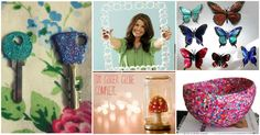 These DIY craft tutorials will show you how to organize, entertain, and decorate with style without spending a fortune. These easy for making decorations are great idea if you want to make something new for your home without spending money. Upside Down Stool Wrapping Paper Station Source Artsy vase Source Confetti Vase Source Cake Stands Source Creative Idea Source Colorful Balloon Bud Vases Source Floral Arrangement Using Fruits Source Plastic bottle planter Source source Plastic Bottle…