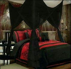 gothic style bedroom decorating ideas-canopy bed gothic style | A ...