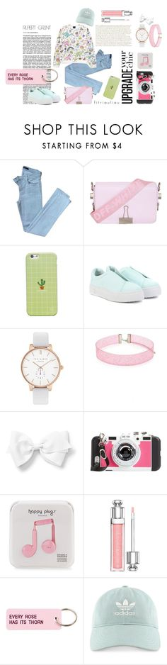 The Next Level of Pastels by fitriauliau on Polyvore featuring J Brand, Eytys, Off-White, Ted Baker, Forever 21, Happy Plugs, WithChic, adidas, Various Projects and BP.