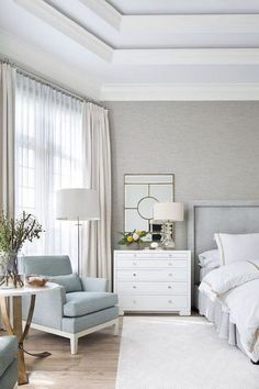 bedroom is a multipurpose room - we rest, we work, we chat. lighting can literally make or break the mood and atmosphere. find out how to design your bedroom lighting for more effective bedroom living now Living Room White, White Rooms, New Living Room, Living Room Decor, Bedroom Decor, Bedroom Ideas, Bedroom Furniture, Bedroom Curtains, White Furniture