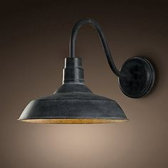 Ladiqi Industrial Wall Sconce Antique Edison Wall Lamp Metal Shade Barn Farmhouse Light Fixture