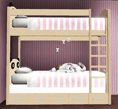 My Sims 3 Blog: Panda Bunk Beds by PauleanR