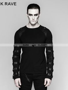 b6ad17e8f43b0 24 Best Gothic Tops for Men images in 2019 | Gothic tops, Fashion ...