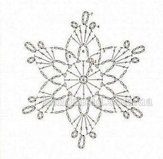 crochet snowflake #3