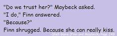 Heck no. *pushes Finn and Amanda together*