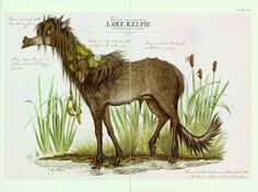 Kelpie (cailpeach) The water horse is a common form of the kelpie, said to lure humans, especially children, into the water to drown and eat them. It performs this act by encouraging children to ride on its back.
