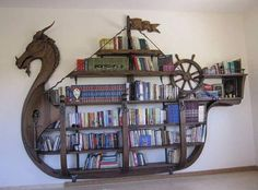 What a great bookcases!! #steampunktendencies #steampunk #furniture #book #books #bookcase