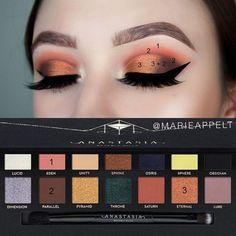 "anastasiabeverlyhills prism palette makeup look tutorial, step by step- Marie Appelt (@marieappelt) auf Instagram: ""@anastasiabeverlyhills prism palette . @anastasiabeverlyhills @nicoleguerriero glow kit .…"""