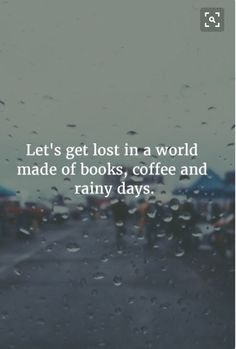 Let's get lost in a world of books, coffee, and rainy days.