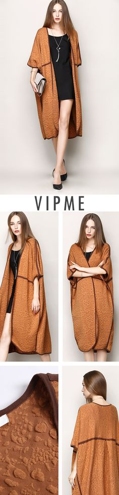 The cool Khaki Cardigan is awesome for the sake of coloring and style. Decent jacquard is one of the reasons why it deserves your attention. Grab it on VIPme.com NOW!