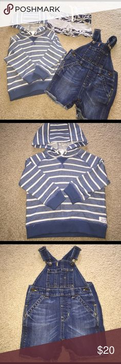 Boys Gap Overalls, Shorts & Carters Sweat Shirt Gently worn Boys size 12-18 months Gap Overalls and short. Carter's Sweat Shirt size 12 Months. GAP Shirts & Tops Sweatshirts & Hoodies