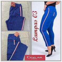 Spodnie z lampasem Cevlar BL03 kolor chabrowy rozmiar 38 – 40 – 42 - Big Sister Parachute Pants, Sweatpants, Big, Fashion, Moda, La Mode, Sweat Pants, Fasion, Jumpsuits